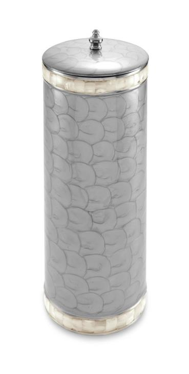 Julia Knight Classic Toilet Tissue Covered Holder Platinum