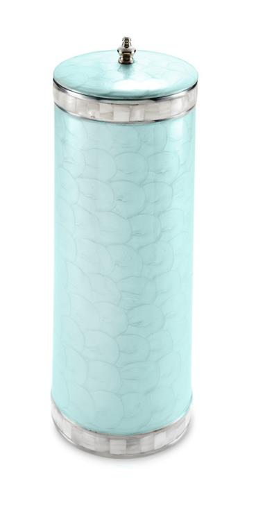 Julia Knight Classic Toilet Tissue Covered Holder Aqua