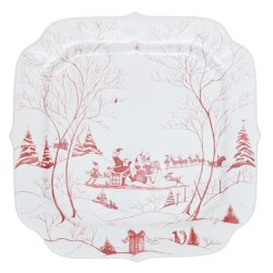 Juliska Country Estate Winter Frolic Ruby Santa?s Cookie Tray Naughty and Nice List
