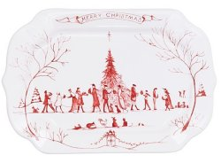 Juliska Country Estate Winter Frolic Ruby Gift Tray Merry Christmas