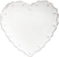 Juliska Berry & Thread Whitewash Heart Cocktail Plate Set/4