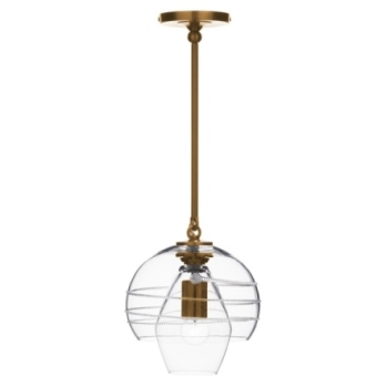 Juliska Amalia Petit Double Shade Pendant-Brass