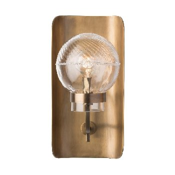Juliska Graham Globe on Lisbon Sconce-Brass