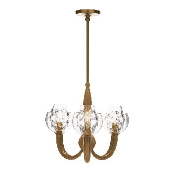 Juliska Florence Double Shade on Paris Chandelier-Brass