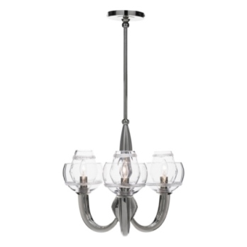 Juliska Dean Double Shade on Paris Chandelier-Nickel