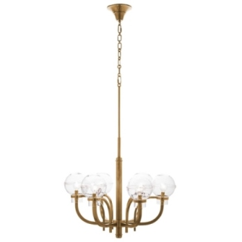 Juliska Graham Globe on London Chandelier-Brass