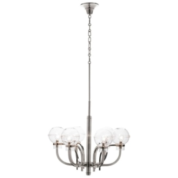 Juliska Graham Globe on London Chandelier-Nickel