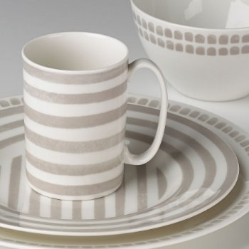 Kate Spade CHARLOTTE STREET GREY NORTH DINNERWARE