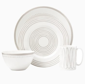 Kate Spade CHARLOTTE STREET GREY WEST DINNERWARE