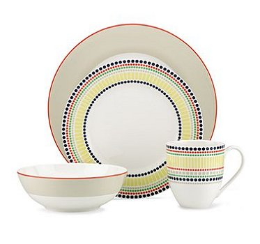 Kate Spade HOPSCOTCH DRIVE TAUPE Dinnerware