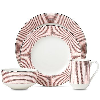 KATE SPADE LAUREL STREET RED DINNERWARE