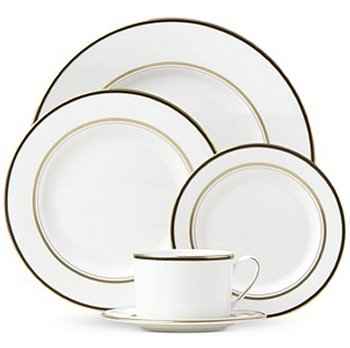 Kate Spade LIBRARY LANE BLACK DINNERWARE