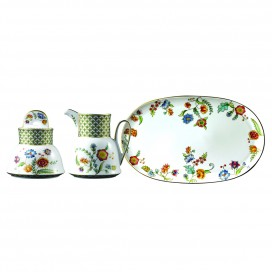 Prouna Gione Sugar Bowl & Creamer & Tray Set