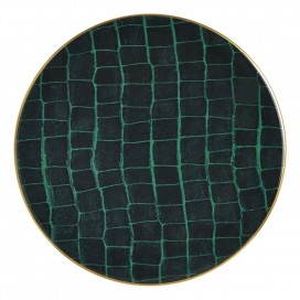 Prouna Alligator Colors Emerald Charger Plate