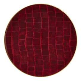 Prouna Alligator Colors Ruby Charger Plate