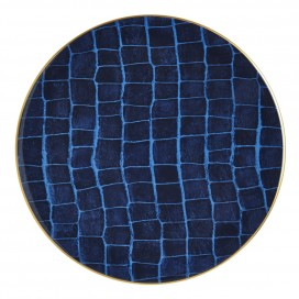 Prouna Alligator Colors Sapphire Charger Plate