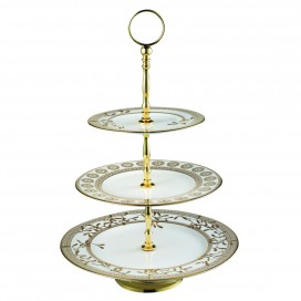 Prouna Golden Leaves 3-Tier Cake Stand