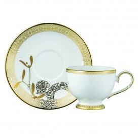 Prouna Golden Leaves Espresso Cup & Saucer