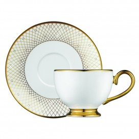 Prouna Princess Gold Tea Cup & Saucer