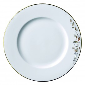 Prouna Diana Gold Salad / Dessert Plate with Crystal