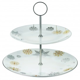 Prouna Winter Crystal 2-Tier Cake Stand