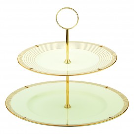 Prouna Regency Gold 2-Tier Cake Stand