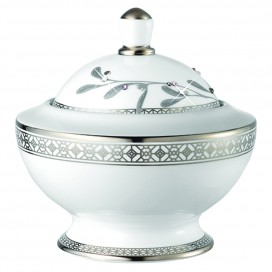 Prouna Platinum Leaves Sugar Bowl