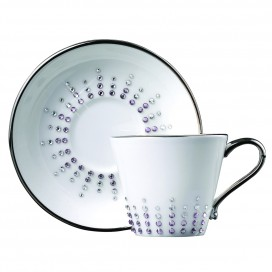 Prouna Chain Tiara Amethyst Espresso Cup & Saucer