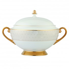 Prouna Princess Gold Covered Vegetable Bowl / Soup Tureen