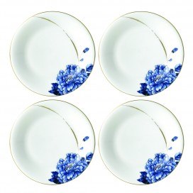 Prouna Emperor Flower Canape Plate, set of 4