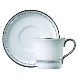 Prouna Chain Crystal Espresso Cup & Saucer