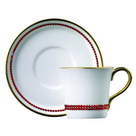 Prouna Chain Hyacinth Espresso Cup & Saucer