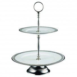 Prouna Chain Crystal 2-Tier Cake Stand