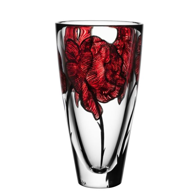 Kosta Boda Tattoo Vase,10 x 5 1/2 in.
