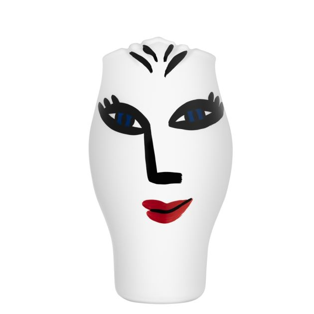 Kosta Boda Open Minds Vase (white),9 5/6 x 6 in.