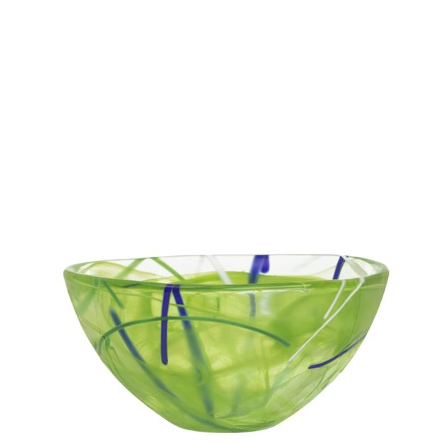 Kosta Boda Contrast Bowl (lime, small),3 3/8 x 6 1/4 in.