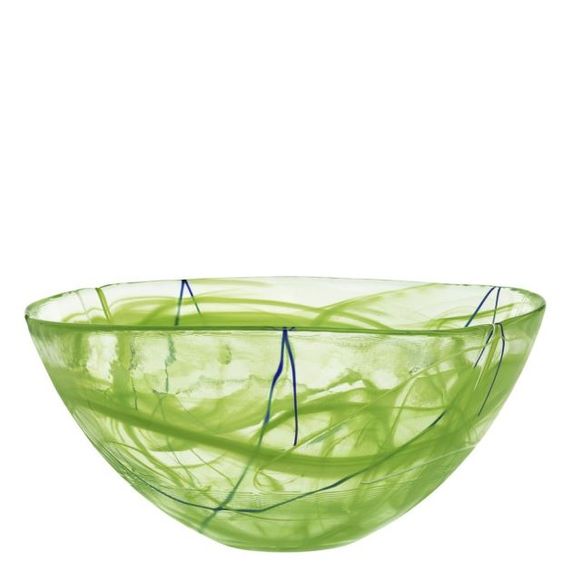 Kosta Boda Contrast Bowl (lime, large),6 5/8 x 13 3/4 in.