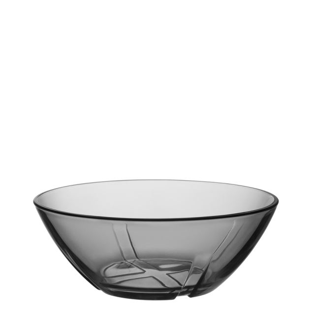 Kosta Boda Bruk Bowl (smoke grey, small)