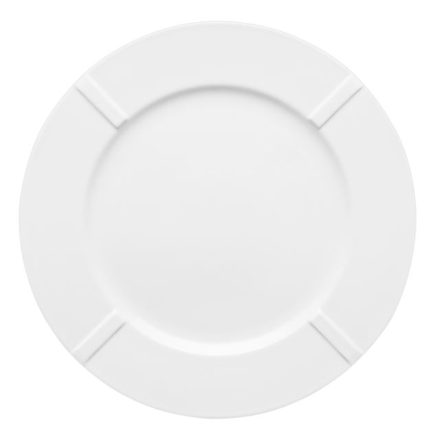 Kosta Boda Bruk Plate (bone china, white)