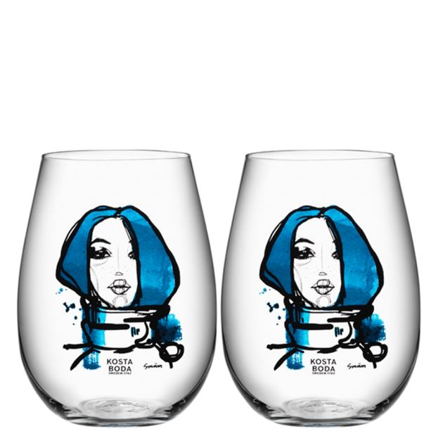 Kosta Boda All About You Tumbler 2 pack (Miss you, blue)