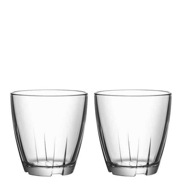 Kosta Boda Bruk Tumbler (clear, small, pair)