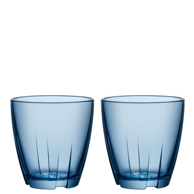 Kosta Boda Bruk Tumbler (water blue, small, pair)
