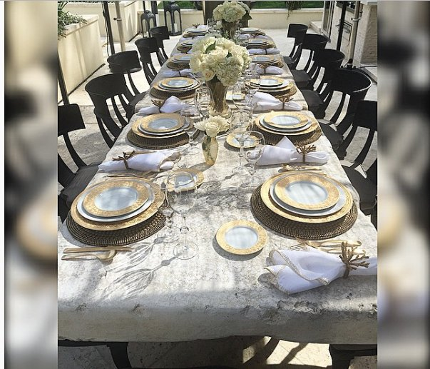 Kris Jenner's Summer Fine China Table Setting