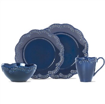 LENOX CHELSE MUSE FLORAL NAVY Dinnerware