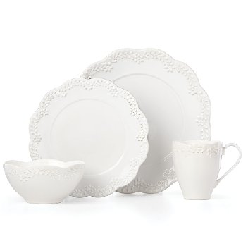 LENOX CHELSE MUSE FLORAL WHITE Dinnerware