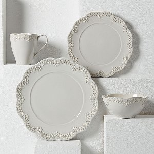 LENOX CHELSE MUSE FLORAL GREY Dinnerware