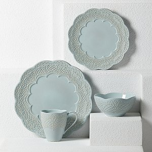 LENOX CHELSE MUSE SCALLOP BLUE Dinnerware