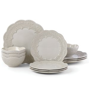 LENOX CHELSE MUSE SCALLOP GREY Dinnerware