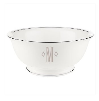 LENOX FEDERAL PLATINUM MONOGRAM BLOCK Dinnerware