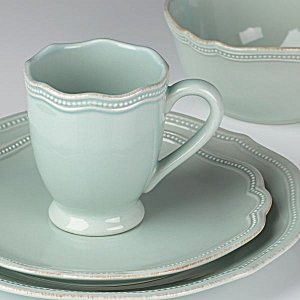 LENOX FRENCH PERLE BEAD ICE BLUE Dinnerware